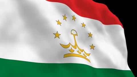 Flag B137 TJK Tajikistan Stock Video Footage