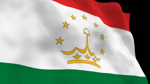 Flag B137 TJK Tajikistan Animation