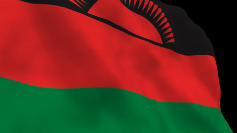 Flag B141 MWI Malawi Stock Video Footage