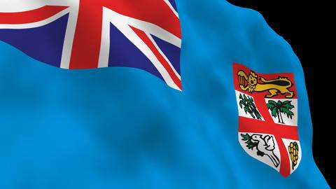 Flag B143 FJI Fiji Stock Video Footage