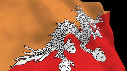 Flag B147 BTN Bhutan Animation