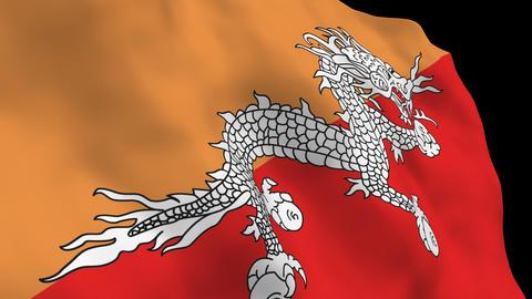 Flag B147 BTN Bhutan Stock Video Footage