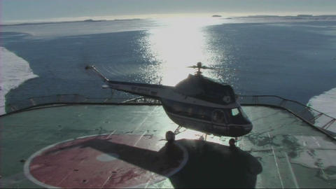 Helicopter taking off Stock Video Footage