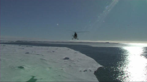 Helicopter landing Stock Video Footage