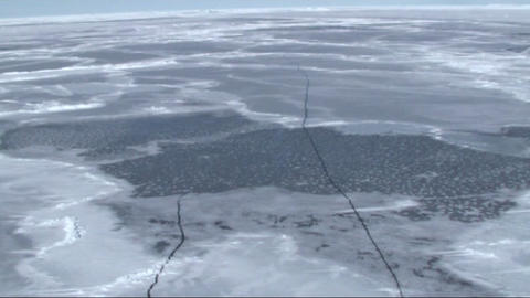 Aerial view of the sea ice on Antarctica Live Action