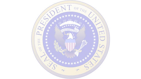 Presidential Seal 03 (24fps) Stock Video Footage