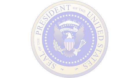 Presidential Seal 03 (24fps) Stock Video Footage