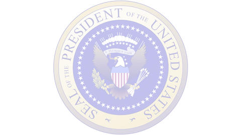 Presidential Seal 03 (30fps) Stock Video Footage