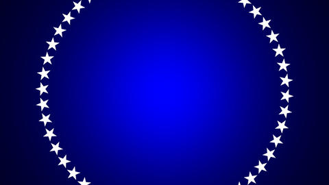 BG ROTATINGSTARS 10 blue 24fps Stock Video Footage