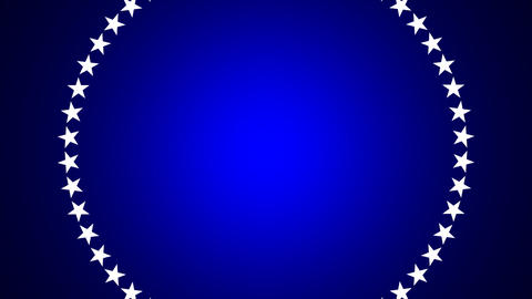 BG ROTATINGSTARS 10 blue 24fps Animation