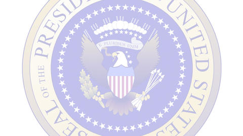 Presidential Seal 04 (25fps) Stock Video Footage