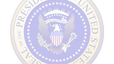 Presidential Seal 04 (25fps) Stock Video Footage