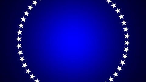 BG ROTATINGSTARS 10 blue 30fps Stock Video Footage