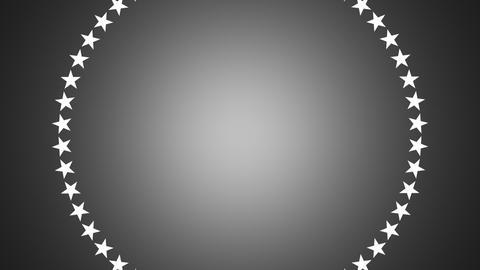 BG ROTATINGSTARS 12 gray 25fps Animation