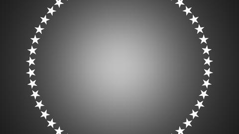 BG ROTATINGSTARS 12 gray 25fps Stock Video Footage