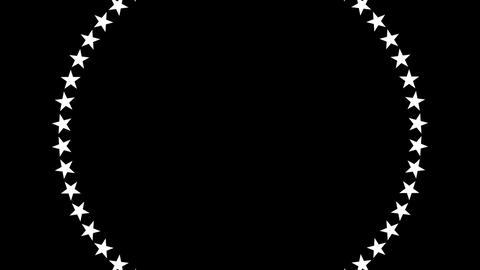 BG ROTATINGSTARS 13 black 24fps Animation