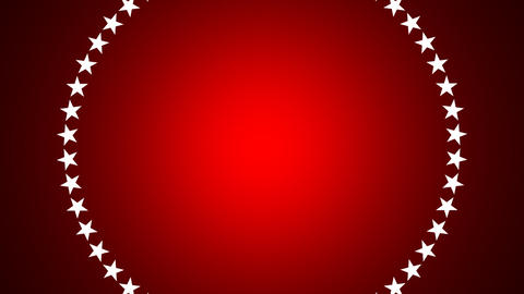 BG ROTATINGSTARS 11 red 25fps Stock Video Footage
