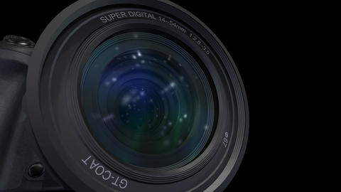 Lens Cen up 2 ss Stock Video Footage