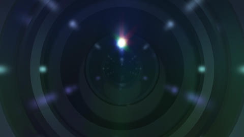 Lens Cen up ss Stock Video Footage