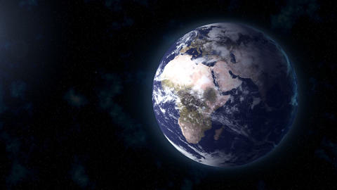 realistic Earth BG focus EU Africa Animation