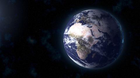 realistic Earth BG focus EU Africa Stock Video Footage