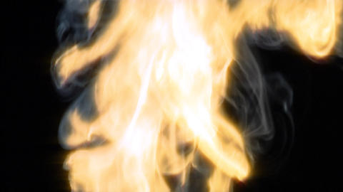 smoky fire up Stock Video Footage