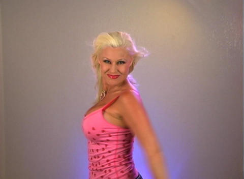 Beautiful Blonde Dancing (2a) Stock Video Footage