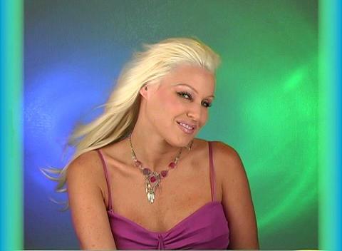 Beautiful Blonde Headshot (2) Footage