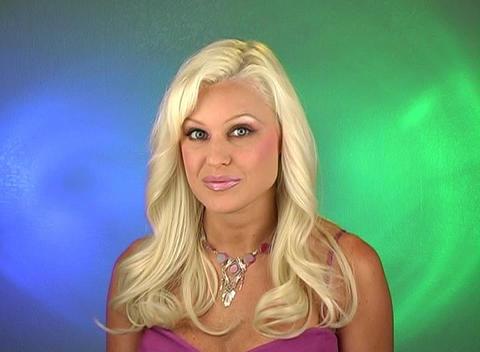 Beautiful Blonde Surprised Stock Video Footage