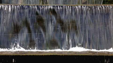 Park waterfall 01 Stock Video Footage