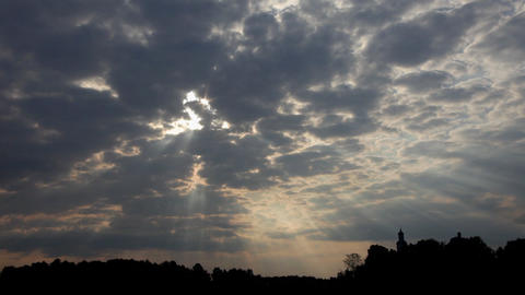 Sunrise clouds 02 Stock Video Footage