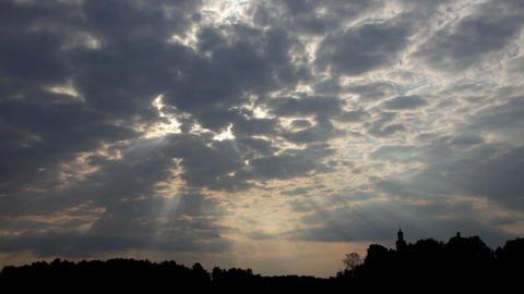Sunrise clouds 02 Footage