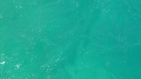 cyan windy water background Stock Video Footage