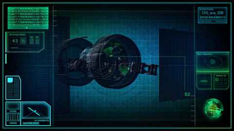 military spy satellite Stock Video Footage