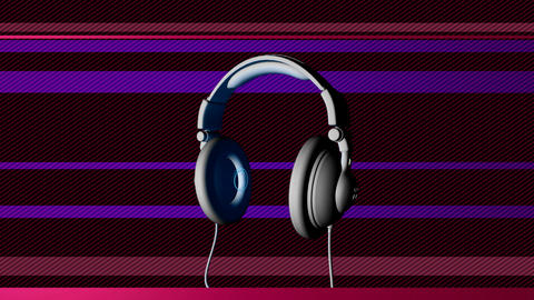 dj headphones Stock Video Footage