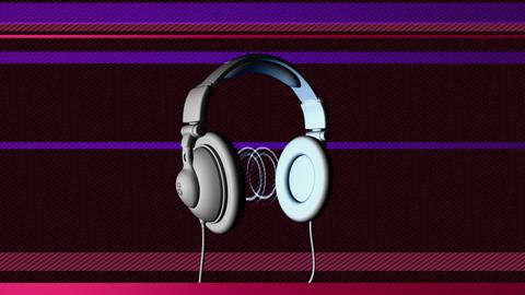 dj headphones Stock Video Footage