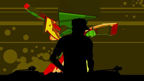 dj silhouette Animation