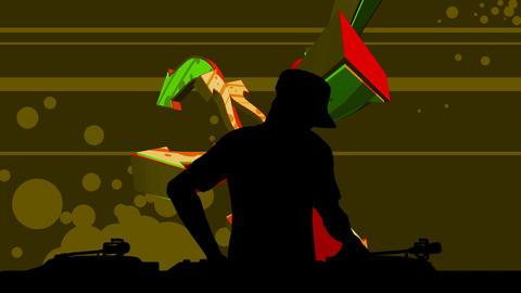 dj silhouette Stock Video Footage