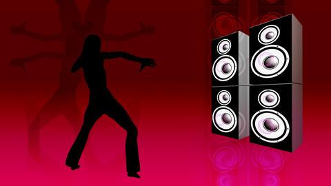 speaker dancer Stock Video Footage
