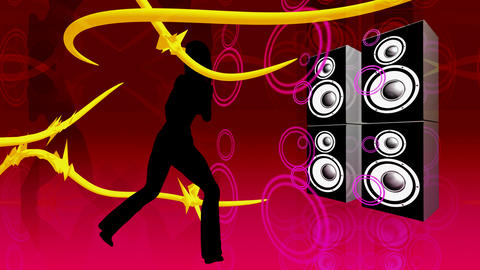 speaker dancer Stock Video Footage