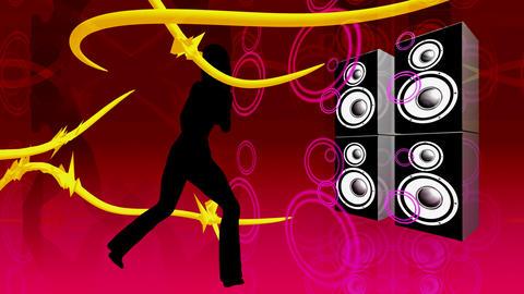 speaker dancer Animation