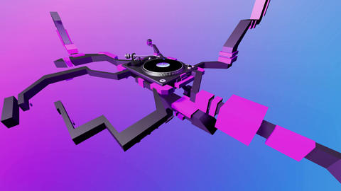 turntable formation Stock Video Footage