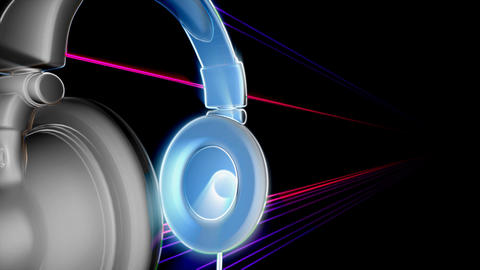 dj headphones 2 Stock Video Footage