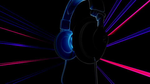 dj headphones 2 Stock Video Footage
