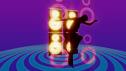 speaker dancer 2 Stock Video Footage