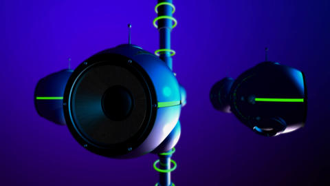 subwoofer pods 2 Stock Video Footage