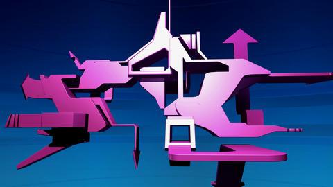 3d graffiti 1 Stock Video Footage