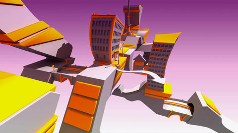 city core abstract Animation