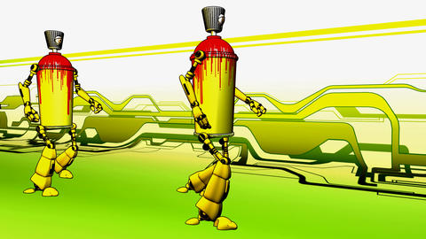 spraycan fandango Stock Video Footage
