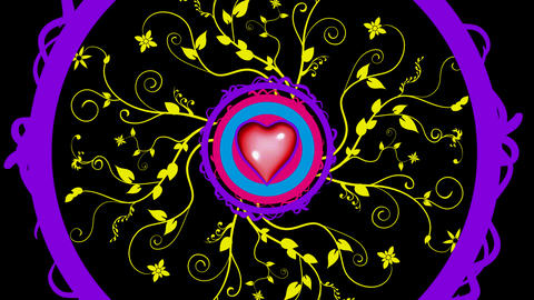 scarlet heart Stock Video Footage